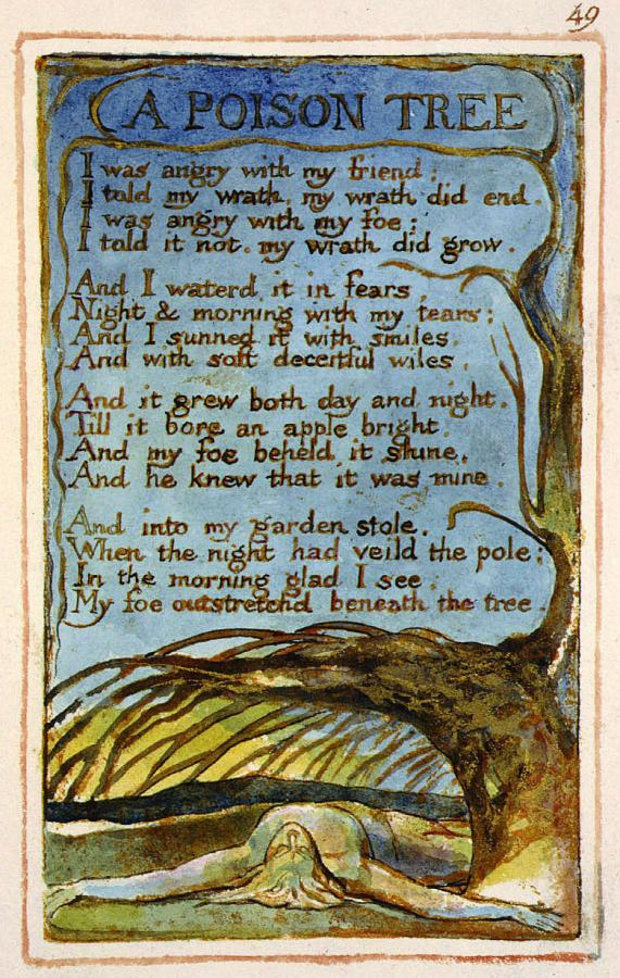poison tree william blake essays